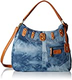 Rieker- H1449, Shoulder Bag, Women's, Blue (Blau), 14x27x35 cm (B x H x T)
