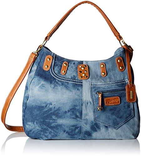 Rieker- H1449, Shoppers y bolsos de hombro, Mujer, Azul (Blau), 14x27x35 cm (B x H x T)