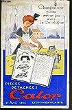 CATALOGUE DES PIECES DETACHEES CALOR - 1er AVRIL 1953 - pieces detachées des petits appareils menagers -...