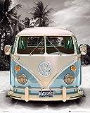 """Poster Combi VW """"Love Transporter"""" (40cm x 50cm) + un poster surprise en cadeau!"""
