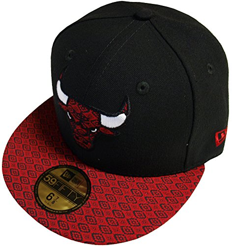 New Era Chicago Bulls Visor Fit Cap 59fifty Basic Fitted Basecap Kappe Men