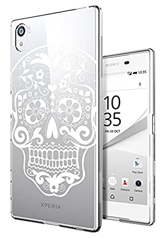 C0874 - Cool Mexican Sugar Skull Flower Tattoo Design Sony Xperia Z5 Premium 5.5'' Fashion Trend Protecteur Coque Gel Rubber Silicone protection Case