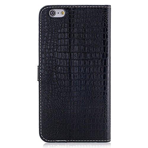 """MOONCASE iPhone 6/iPhone 6s Hülle, Weich PU Leder mit Standfunktion Handysocken Built-in Card Holster Folio Brieftasche Case für iPhone 6/iPhone 6s 4.7"""" Golden Schwarz"""