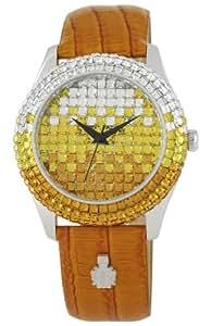 Burgmeister Damen-Armbanduhr Rainbow Analog Quarz Leder BMY01-195