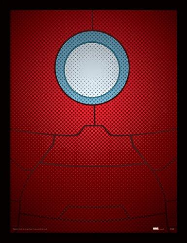Pyramid International FP11195P-PL Avengers Assemble (Iron Man Torso) gerahmter Druck, 250 gsm Paperwrap MDF, mehrfarbig, 44 x 33 x 4 cm Das Punisher-logo-poster