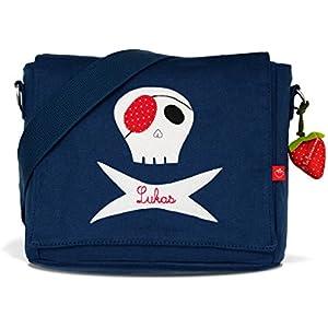 Kindergartentasche & Kindergartenrucksack in einem: Pirat, Seeräuber für Jungen (mit Namen) in blau