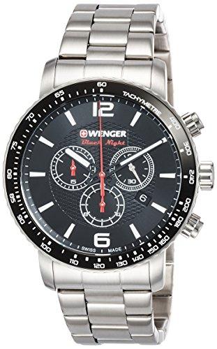 Wenger Orologio Cronografo Quarzo Unisex con Cinturino in Acciaio Inox 01.1843.103