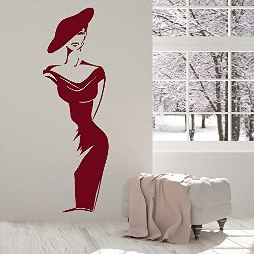 Elegante mode frau vinyl wandaufkleber kleidung schaufenster dekoration malerei salon hause schlafzimmer dekoration malerei 58 * 181 cm