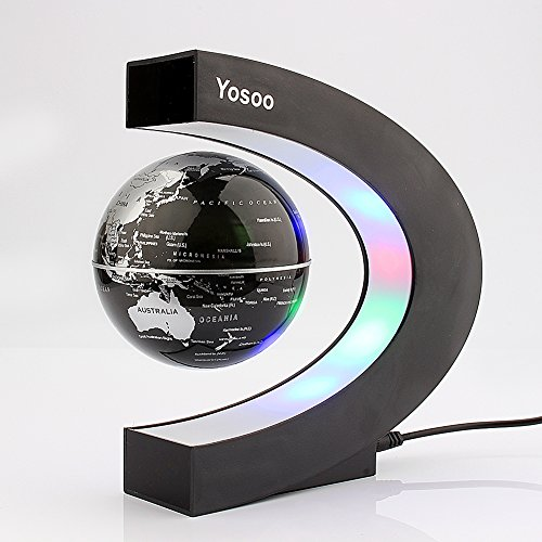 Yosoo-C-shape-Decoration-Magnetic-Levitation-Floating-Globe-World-Map-LED-Light-Christmas-Gift