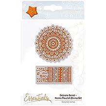 Tonic Studios Delicate Detail - Henna Flourish Stamp Set, Orange