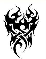 Kingko Men's Temporary Tattoo Waterproof Totem Body Arm Leg Art Stickers (A) (Black)