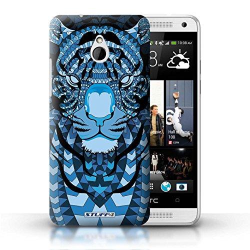 Kobalt® Imprimé Etui / Coque pour HTC One/1 Mini / Loup-Sépia conception / Série Motif Animaux Aztec Tigre-Bleu