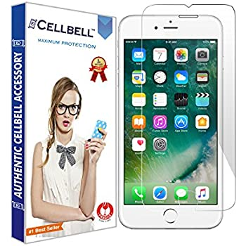 CELLBELL Tempered Glass Screen Protector For Apple iPhone 7 Plus With Installation Kit