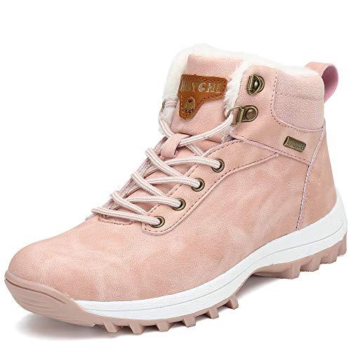 Pastaza Winterstiefel Damen Gefüttert Winterschuhe Wasserdicht Trekking Wander Schuhe Outdoor Rutschfest Schnee Stiefel Winter Boots Rosa, 37