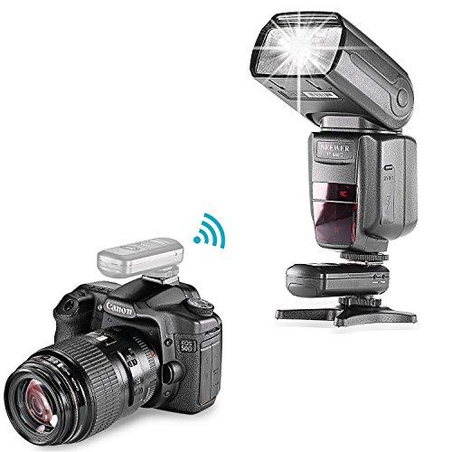 Neewer FC-16 Mehrkanal-Blitzschuh, 2,4 GHz, 3-in-1, drahtloser Blitzschuh Empfänger für Canon- und Nikon-DSLR-Kameras