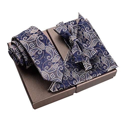 Chinashow Modische Premium Formale/informellen Krawatten Set, Krawatte/Fliege / Einstecktuch für Herren/Jungen, Paisley Retro