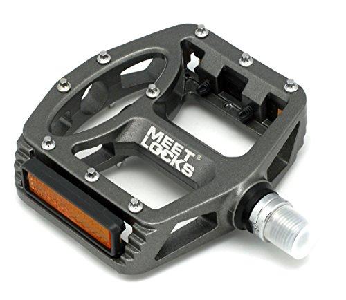 Pédales de vélo de montagne Vélo VTT Injection Magnesium Alloy Cr-Mo CNC Usiné 9/16 'Filetage Broche, 3 roulements Ultral Mis à jour seulement 390 grammes Une paire