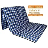 "Sleepinns Country Home's Three Fold Single Bed Size Premium 2 Inches Epe Foam Foldable Mattresses 72"" X 35"" X 2"", (Checkered)"