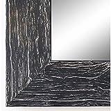 Online Galerie Bingold Wandspiegel Spiegel Badspiegel - Capri 5,8 - Schwarz - 40 x 50 - Außenmaß inkl. Massivholz-Rahmen - viele Größen verfügbar - Modern, Barock, Antik, Vintage