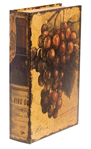 Buchtresor Buchsafe 33cm Buchattrappe Wein Box Zahlmappe Rechnungskassette -