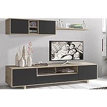 LIQUIDATODO ® - Muebles de salon modernos y baratos en color cambrian/grafito - nordic