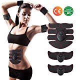FMKYQ EMS Abs Trainer, Cinturones De Tonificación Abdominales Muscle Toner Gym Workout and Home Fitness Aparatos para Hombres Mujeres