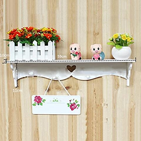 Montado en la pared de madera aihometm Kit de estante de pared flotante elegante y decorativo flotante Book Shelf Utilidad rack de almacenamiento de color