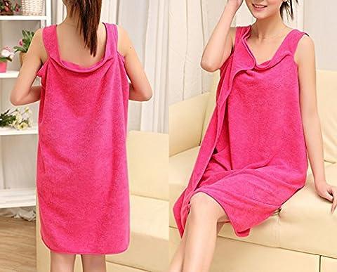 Stillshine - Super Absorbent Wearable Quick Drying Microfiber Soft Bath Towel Beach Spa Bathrobes Bath skirt (Rose Rot)