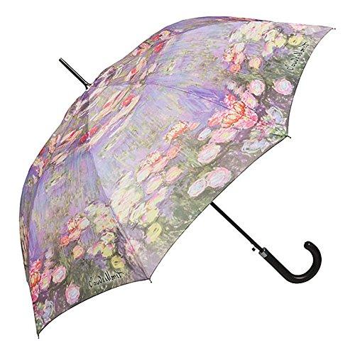 VON LILIENFELD Regenschirm Automatik Damen Kunst Blumen Motiv Claude Monet: Seerosen
