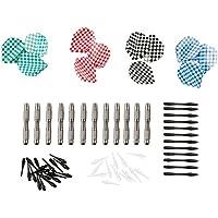 Ultrasport Juego de dardos suaves, set compuesto por dardos suaves, barriles de aluminio, cañas de plástico, plumas y puntas