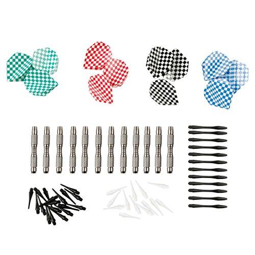 Ultrasport Set con dardi morbidi, set contenente freccette morbide, corpo in alluminio, terminali in plastica, alette e punte