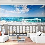 Fototapete Horizont 396 x 280 cm - Vliestapete - Wandtapete - Vlies Phototapete - Wand - Wandbilder XXL - !!! 100% MADE