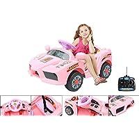 Macchina elettrica 6 V con telecomando di controllo parentale – Ferrari elettrica rosa per bambino