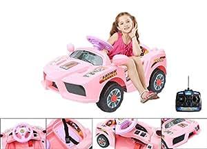 voiture lectrique 6v avec t l commande de contr le parental lectrique rose pour enfant. Black Bedroom Furniture Sets. Home Design Ideas