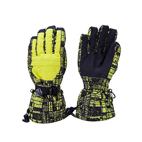 sunvp Herren Ski Handschuhe Anti-Rutsch Winter Outdoor Snow Sports Warm Wasserdicht anti-cold Fäustlinge für Snowboard Skifahren Klettern, Herren, schwarz / blau
