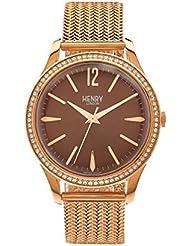 Henry de Londres Unisex Reloj de pulsera Harrow analógico de cuarzo Acero inoxidable hl39de SM de 0124