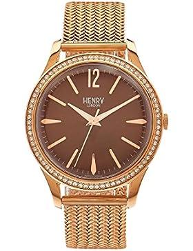Henry London Unisex-Armbanduhr Harrow Analog Quarz Edelstahl HL39-SM-0124