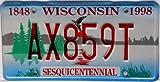 US Nummernschild WISCONSIN Kennzeichen # USA License Plate # Auto - Schild