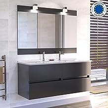meuble salle de bains double vasque 120. Black Bedroom Furniture Sets. Home Design Ideas