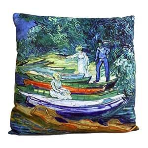 Coussin Couverture - Bateaux d'aviron - Van Gogh