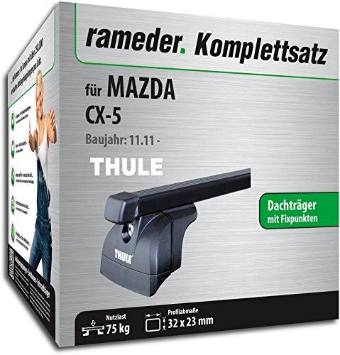 Rameder Komplettsatz, Dachträger SquareBar für Mazda CX-5 (116141-10207-10)