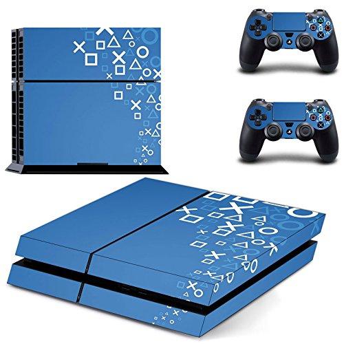 supremery-ps4-adesivi-design-film-playstation-4-2x-adesivo-per-controller-e-console-blu