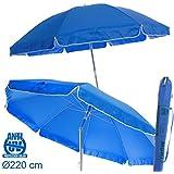 Sombrilla plegable azul Garden de aluminio para playa de 220 cm. - Lola Derek
