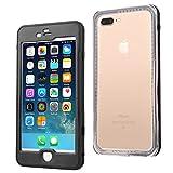"iPhone 6/6S/7 Custodia impermeabile, ERUN Custodia impermeabile iPhone 6 Plus, 6.6ft subacquea Shock neve contro lo sporco Copri urti Resistente all'acqua per iPhone 6/6S/7 4.7""Nero"