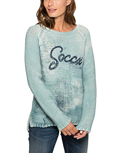 Soccx Damen Pullover mit großem Photoprint