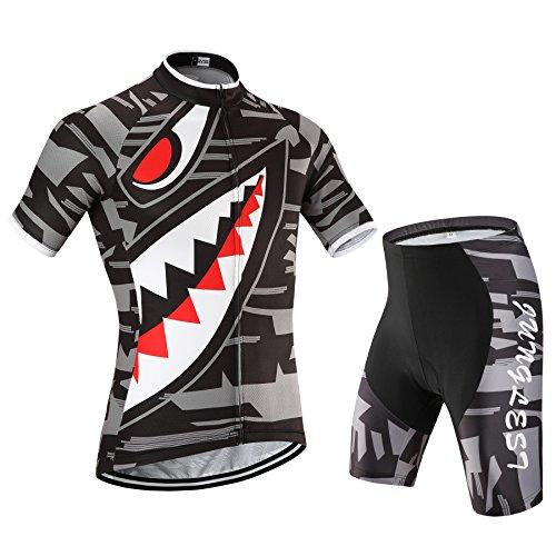 - 510jHy21ZaL - [Taglia:S-5XL][opzione:Bretella,3D 2.8cm Cuscino] Moda Maglia Ciclismo Jerseys Per Uomo corta manica Tuta Estivo Abbigliamento bici della Pantaloni corti Pants Sports maglietta Cycling Shirts  - 510jHy21ZaL - Home Shop 4