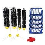 Raogoodcx côté Brosse et filtres Hepa & Brosse à poils et Batteur Souple Brosse de remplacement pour iRobot Roomba 500Série 600536550551595585620630650660680pièces d'aspirateur robot