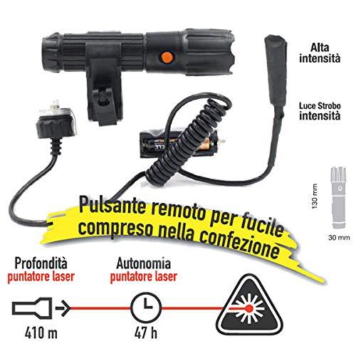 CFG EL032 - Linterna táctica, color negro