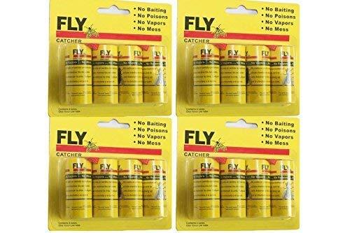 Preisvergleich Produktbild JUDIAO 16x Fliegenfänger Rollen - Insektenfalle - giftfrei,  umweltfreundlich,  hygenisch Fliegenfänger Rollen,  Insektenfalle,  giftfrei,  umweltfreundlich,  hygienisch