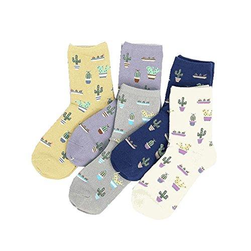 LQZ Socken Wintersocken Stricksocken Baumwolle Damensocken Kaktus